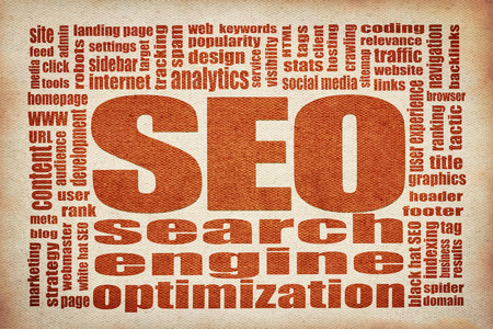 SEO - search engine optimization word cloud  -  printing on canvas