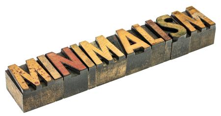 minimalism  - isolated word abstract in vintage letterpress wood type printing blocks 版權商用圖片