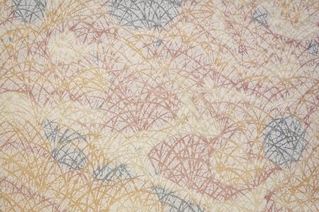 white Japanese Linen Tarasen Paper whit white grass pattern against color marbled mulberry paper Фото со стока