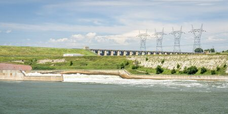 Fort Randall Dam and hydro power plant on Missouri River in South Dakota