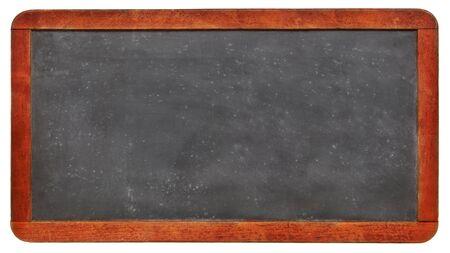 lege schoolbordbanner - geïsoleerd uitstekend leibord met een exemplaarruimte Stockfoto