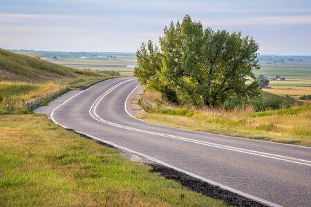 Nebraska Route 92 - von Scottsbluff Wyoming nach Westen durch den MItchell Pass - alter Pionierweg Standard-Bild