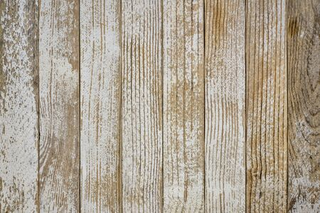 grunge wood background with old white painted planks