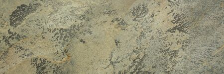 flat, green, yellow and gray slate stone with abstract like landscape pattern, long web banner format