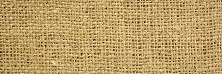 brown burlap fabric background texture, panoramic banner