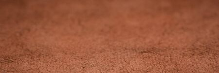 background and texture of brow huun handmade paper with a selective focus, panoramic web banner
