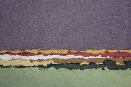 purple sky abstract landscape - a collection of colorful handmade Indian papers produced from recycled cotton fabric