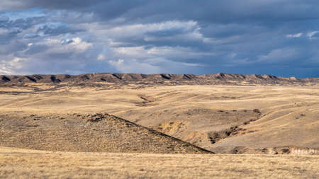 rolling prairie at foothills of Rocky Mountains in northern Colorado - Soapstone Open Space near Fort Collins