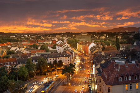 View over Kassel at night