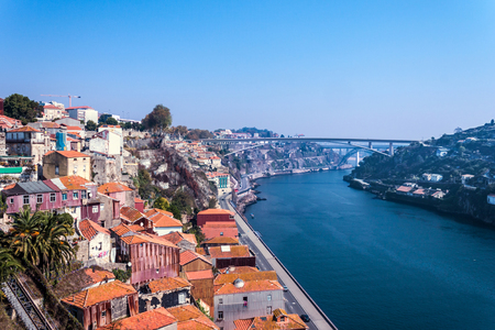 Porto in the sunshine with a view of the river