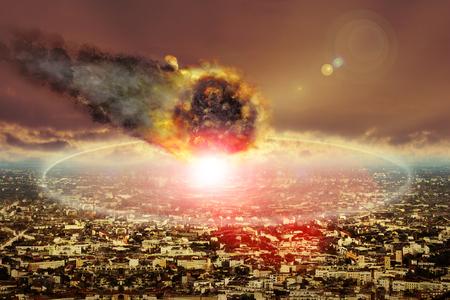Asteroid schlägt in einer Großstadt ein und verursacht eine Katastrophe