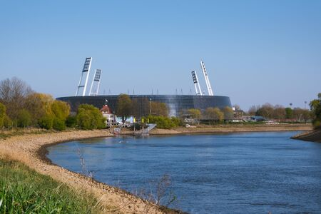 The football stadium in Bremen