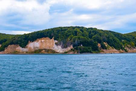 The chalk cliffs in front of the island of Rügen