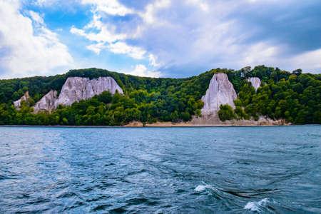 The chalk cliffs in front of the island of Ruegen Archivio Fotografico