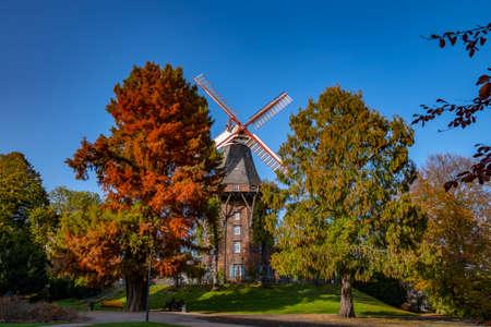 mill in the park in bremen Archivio Fotografico