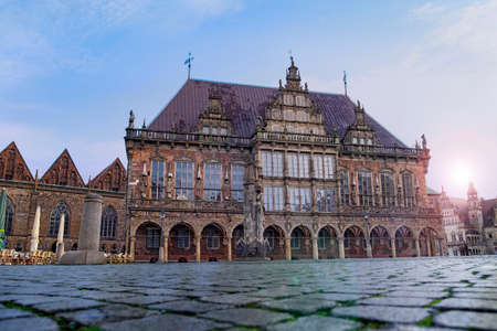 The market square in Bremen with the town hall