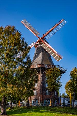 windmill in downtown Bremen in the park Archivio Fotografico