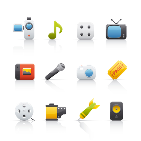Entertainment icon for multiple applications Stock Vector - 5091012