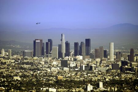 Helicopter over Los Angeles
