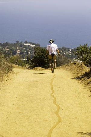Unicycle Trail to Pacific Ocean photo