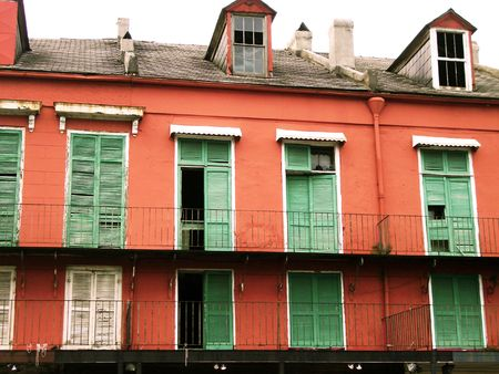 balcony: New Orleans Storm Shutters