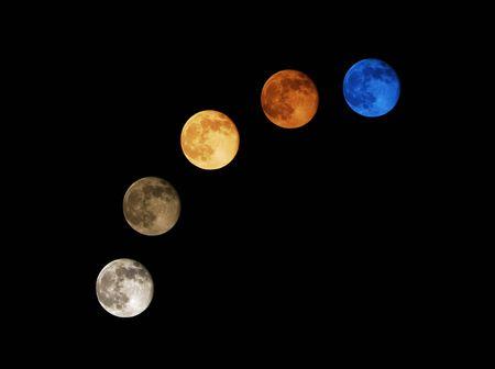 Mond, lebendige und hell, auf die California Fl�chenbr�nde und Luft Partikel zur�ckzuf�hren.