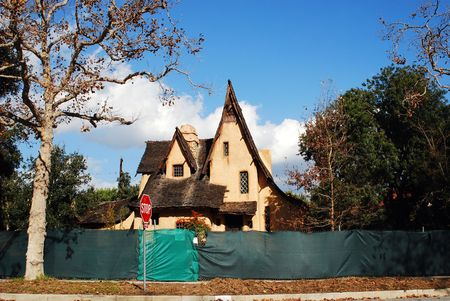 Real Estate industry gets another victim.  This gingerbread house goes to the bank. photo