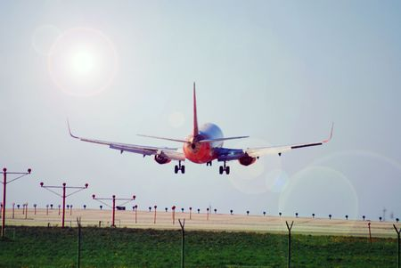 Pilot nails the landing on this commercial passenger jet airplane for another safe landing in Los Angeles, California, or the destination of your choice.