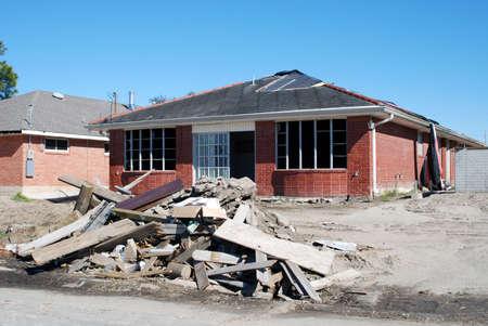 Besch�digtes Haus in der Mitte der Renovierung in den Nachwirkungen des Hurrikans Katrina.