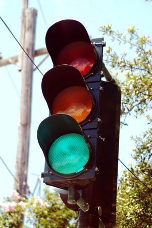 Green light standing tall.