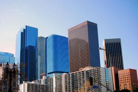 quartier g�n�ral: B�timents modernes � Los Angeles en Californie de First Street.  Banque d'images