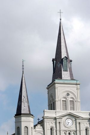Saint Louis Cathedral in Jackson Sqaure in French Quarter in New Orleans. photo