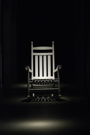 rocking chair: Spotlight shining down on your retirement and healthcare reform.