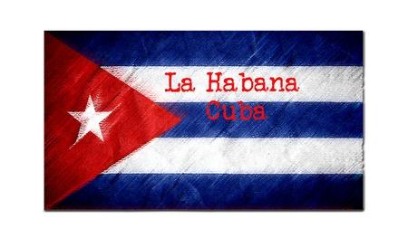 La Habana Cuba flag graphic art illustration 免版税图像