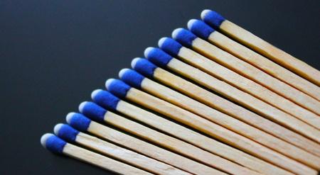 Bluetip Matches Banco de Imagens