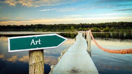 Street Sign to Art Reklamní fotografie