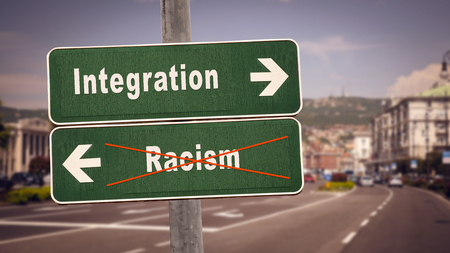 Street Sign Integration versus Racism