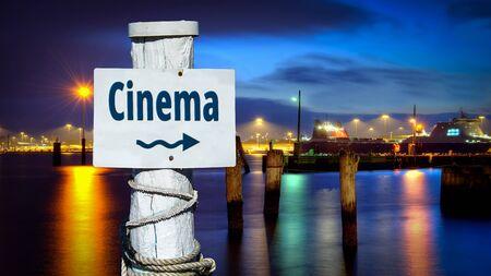 Street sign to Cinema