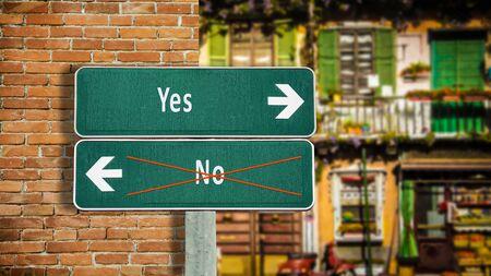 Street Sign Yes versus No