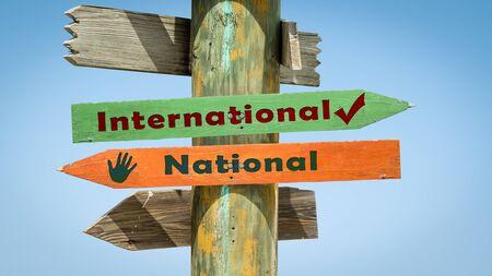Street Sign International versus National