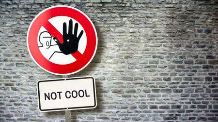 Street Sign Cool versus Uncool Imagens