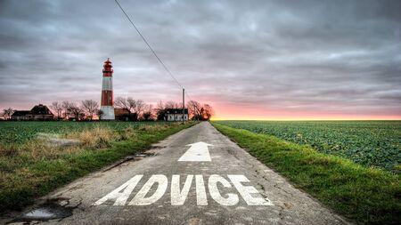 Street Sign to Advice 写真素材