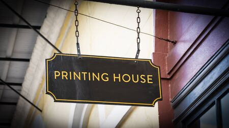 Street Sign PRINTING HOUSE Banque d'images