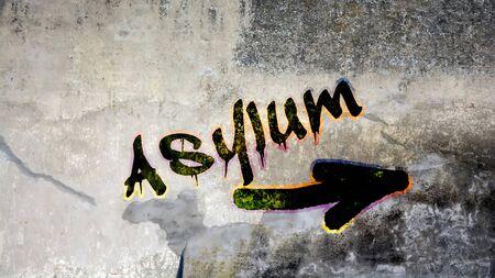 Wall Graffiti to Asylum