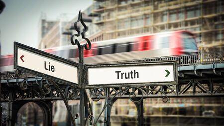 Street Sign Truth versus Lie