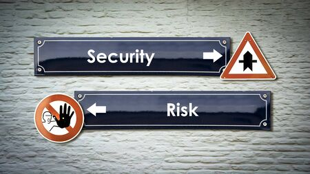 Street Sign Security versus Risk
