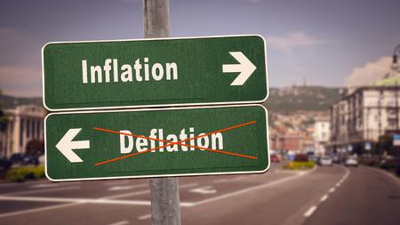 Street Sign Inflation versus Deflation