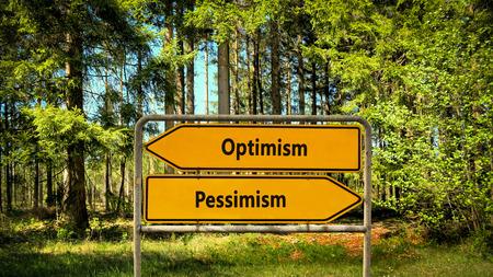 Street Sign Optimism versus Pessimism