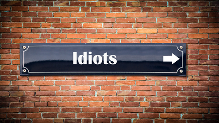 Street Sign to Idiots