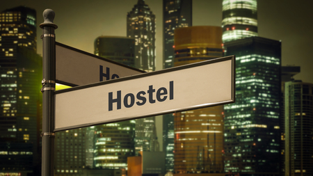 Street Sign to Hostel